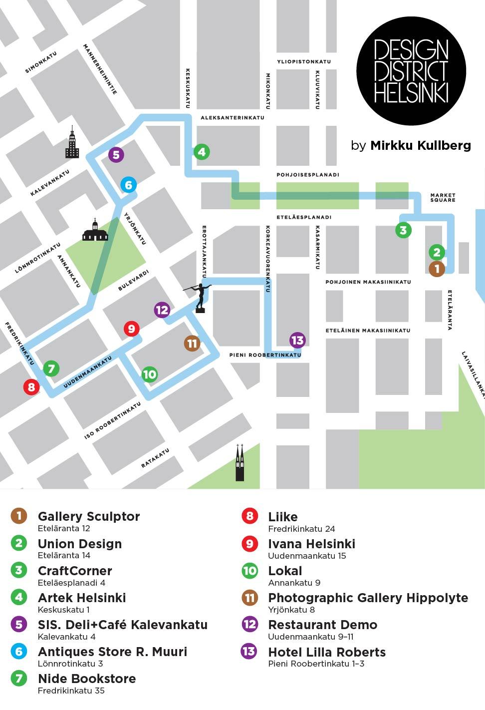 Mirkku Kullbergin Design District Design District Helsinki