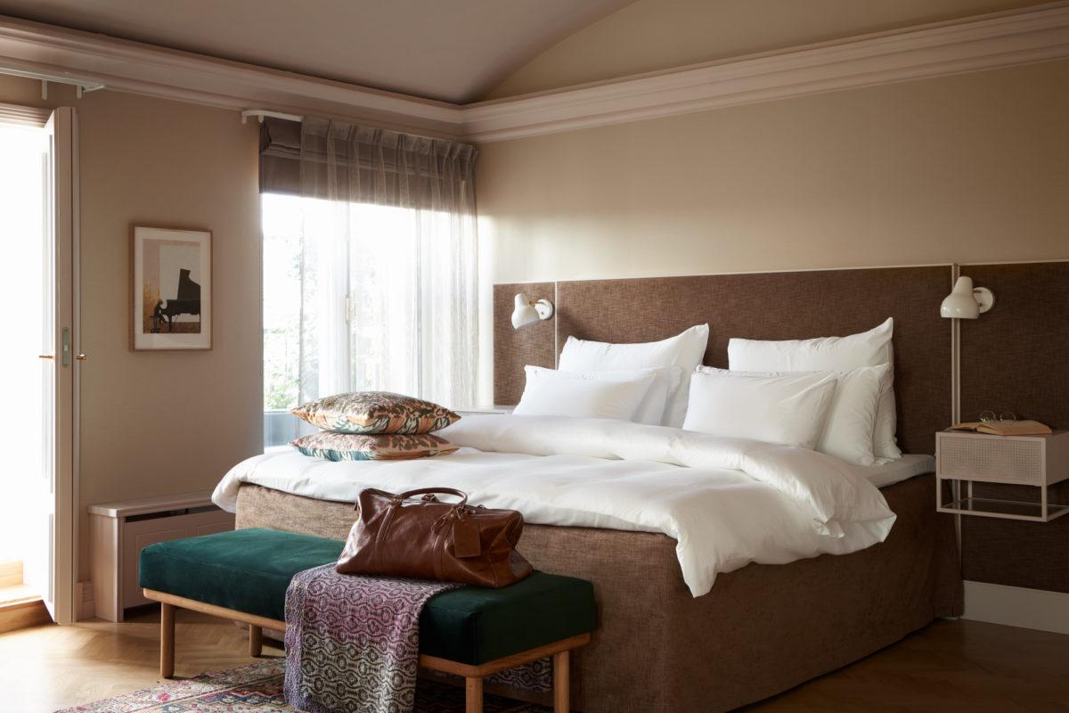 St. Georgen huoneiden värimaailma on rauhoittava ja rentouttava