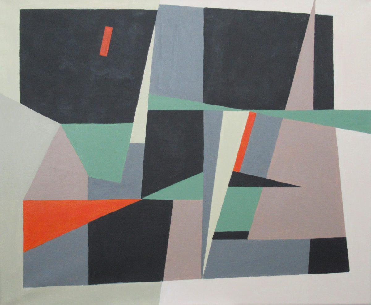 Anni Sovala, Teräviä kulmia, 50x61, akryyli kankaalle (2020)